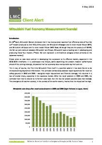 Mitsubishi Fuel Economy Measurement Scandal