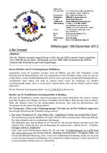 Mitteilungen 186 Dezember 2013