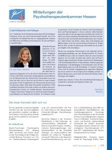 Mitteilungen der Psychotherapeutenkammer Hessen