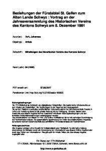 Mitteilungen des historischen Vereins des Kantons Schwyz