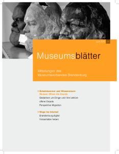 Mitteilungen des Museumsverbandes Brandenburg