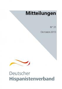 Mitteilungen N 31 OKTOBER 2013