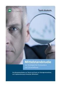 Mittelstandstudie zur Strategischen Kompetenz von Unternehmen