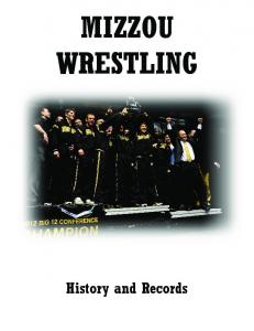 MIZZOU WRESTLING. History and Records