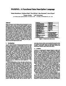 ML: A Functional Data Description Language