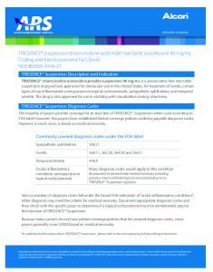 ml Coding and Reimbursement Fact Sheet NDC#