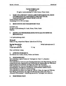 ml, Injektionslösung für Hunde, Katzen, Pferde, Rinder