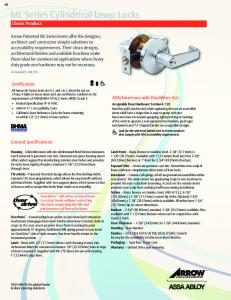 ML Series Cylindrical Lever Locks Classic Product