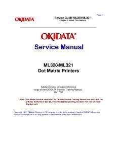 ML321 Dot Matrix Printers