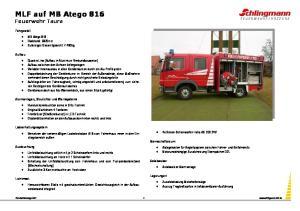 MLF auf MB Atego 816 Feuerwehr Taura