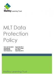 MLT Data Protection Policy