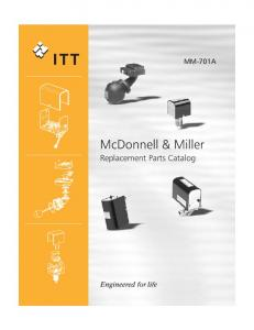 MM-701A. McDonnell & Miller Replacement Parts Catalog