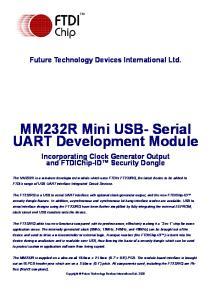 MM232R Mini USB- Serial UART Development Module