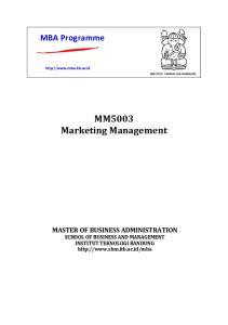 MM5003 Marketing Management