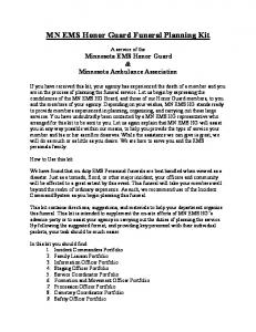 MN EMS Honor Guard Funeral Planning Kit