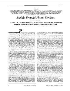 Mo b ile Prepaid Phon e Services