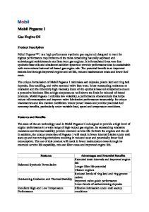 Mobil Pegasus 1. Gas Engine Oil. Product Description