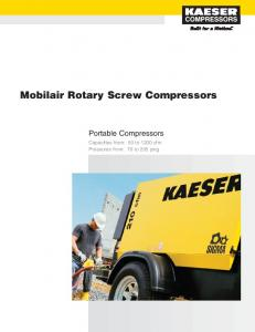 Mobilair Rotary Screw Compressors