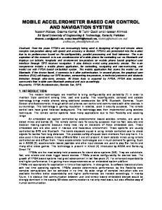 MOBILE ACCELEROMETER BASED CAR CONTROL AND NAVIGATION SYSTEM
