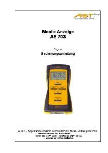 Mobile Anzeige AE 703