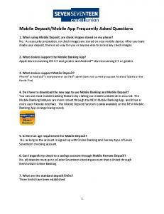 Mobile App Frequently Asked Questions