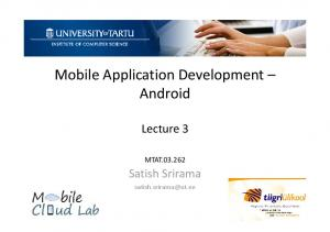 Mobile Application Development Android
