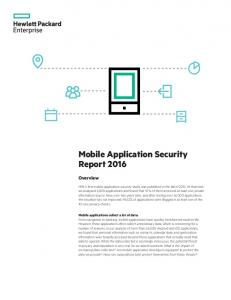 Mobile Application Security Report 2016