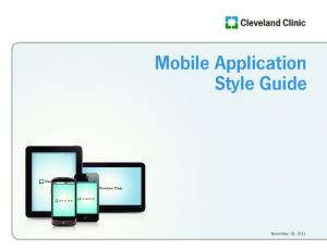 Mobile Application Style Guide