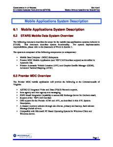 Mobile Applications System Description. 6.1 Mobile Applications System Description