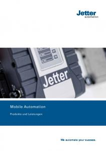 Mobile Automation. Produkte und Leistungen. We automate your success