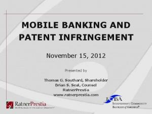 MOBILE BANKING AND PATENT INFRINGEMENT