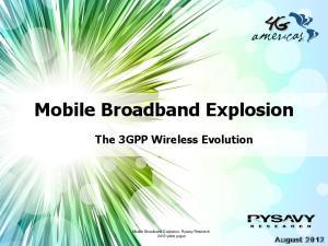 Mobile Broadband Explosion