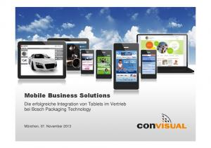 Mobile Business Solutions