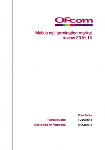 Mobile call termination market review