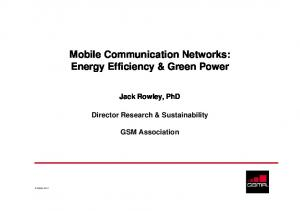 Mobile Communication Networks: Energy Efficiency & Green Power