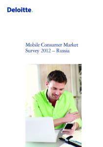 Mobile Consumer Market Survey 2012 Russia