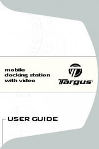 mobile docking station with video USER GUIDE