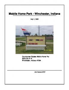 Mobile Home Park - Winchester, Indiana