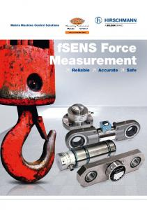Mobile Machine Control Solutions. fsens Force Measurement Reliable Accurate Safe