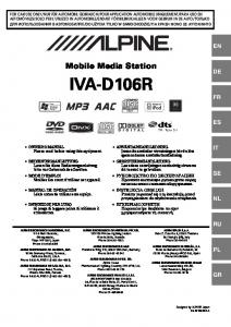 Mobile Media Station IVA-D106R DIGITAL VIDEO
