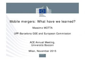 Mobile mergers: What have we learned?