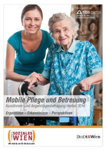Mobile Pflege und Betreuung