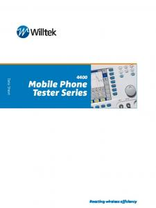 Mobile Phone Tester Series
