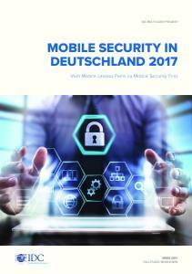 MOBILE SECURITY IN DEUTSCHLAND 2017