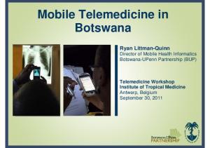 Mobile Telemedicine in Botswana