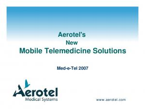 Mobile Telemedicine Solutions