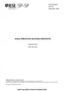 MOBILE TERMINATION AND MOBILE PENETRATION