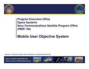 Mobile User Objective System