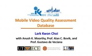 Mobile Video Quality Assessment Database