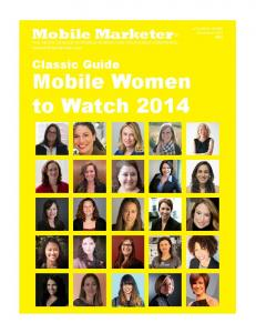 Mobile Women to Watch 2014